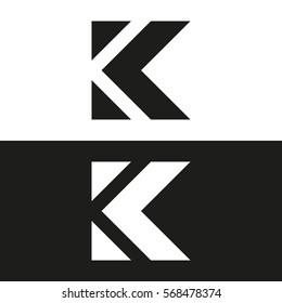 Letter K business logo template. Vector icon. Minimal logo design