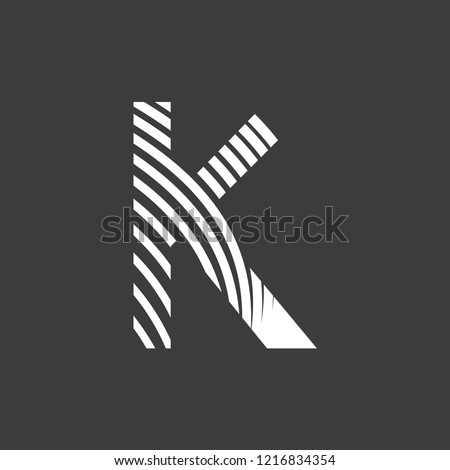 Letter K Font Typography Art Deco Stock Vector Royalty Free