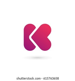 Letter K heart logo icon design template elements