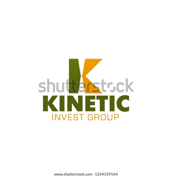Design Bank Twist.Letter K Icon Invest Group Bank Stock Vector Royalty Free 1264339564