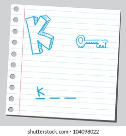 Letter K for key