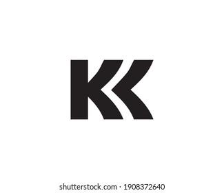 letter k and kk logo design vector template