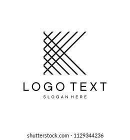 Letter K Logo Design.