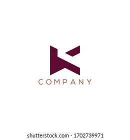 Letter K logo design template, Creative Minimal Alphabet K letter Symbol for any kinds of Corporate Business Identity,