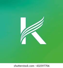 Letter K logo design template.