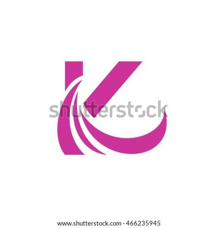 letter k logo design template のベクター画像素材 ロイヤリティ