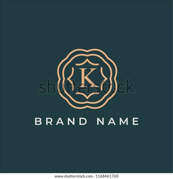 Letter K Logo Design Template Alphabet Stock Vector Royalty