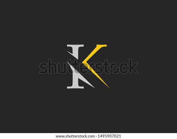 Letter K Logo Icon Creative Design Stock Vector Royalty