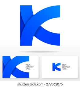Letter K logo icon design - vector sign. Business card templates