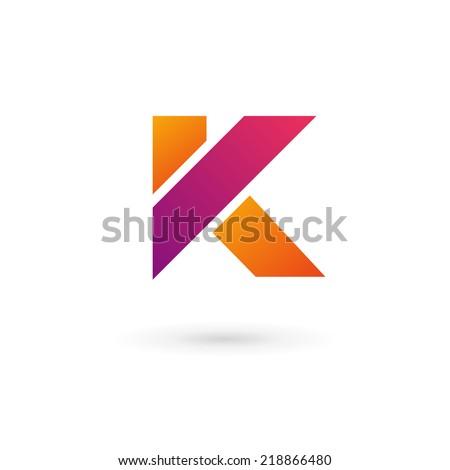 letter k logo icon design template のベクター画像素材 ロイヤリティ