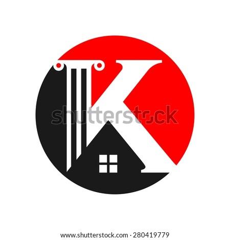 letter k logo icon design template elements vector color sign