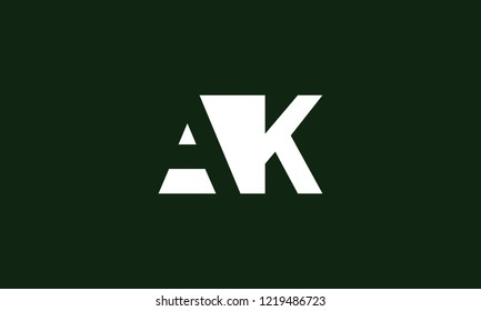 letter A K logo icon template design for branding. Creative, professional and customized initial typography for logo