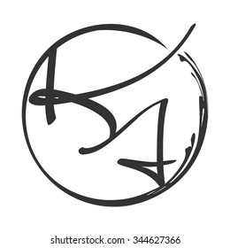letter k and letter a logo vector.