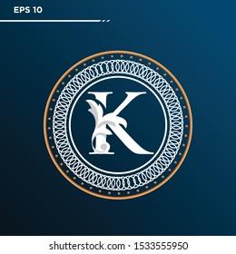 Letter K logo Vintage . Letter K minimalis. Letter K logo Designs. Letter K Retro