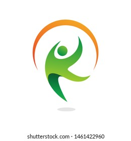 Letter K People Health Care Logo Design