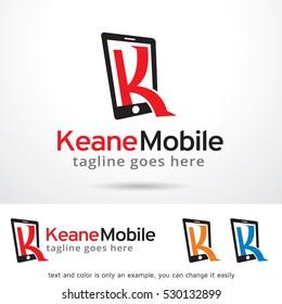 Letter K Phone Logo Template Design Vector