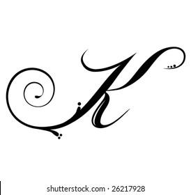 Imágenes Fotos De Stock Y Vectores Sobre Letter K Script