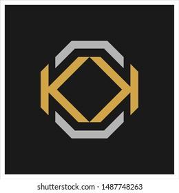 Letter K and K vector logo.