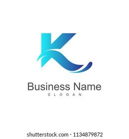 Letter K Wave Logo