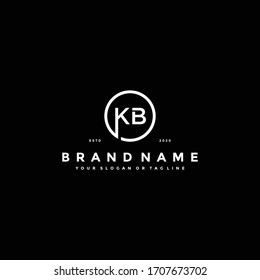 Letter KB Logo design vector template