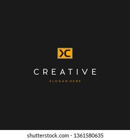 Letter KC Creative Business Logo Design