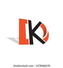 Letter KD or DK vector logo design.