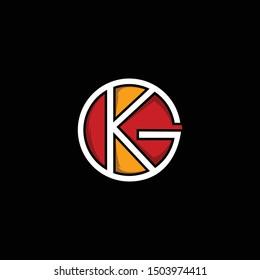 Letter KG Circle Creative Modern Logo