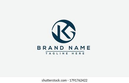 Letter KG logo icon design template elements