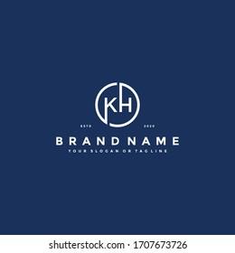 Letter KH Logo design vector template