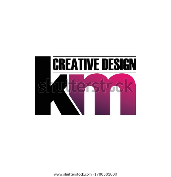 Letter Km Monogram Logo Design Vector Stock Vector Royalty Free 1788581030