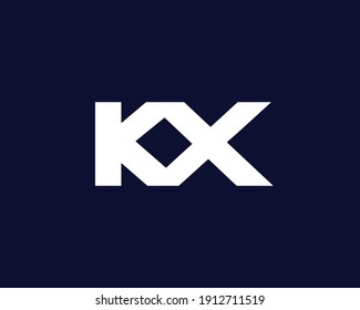 letter kx and xk logo design vector template