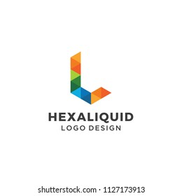 Letter L Alphabet Geometric Logo Design Vector Symbol Hexagonal