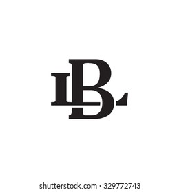 letter L and B monogram logo