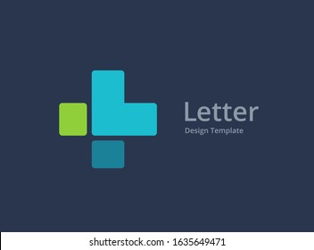 Letter L cross plus medical logo icon design template elements