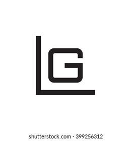 letter L and G monogram logo black
