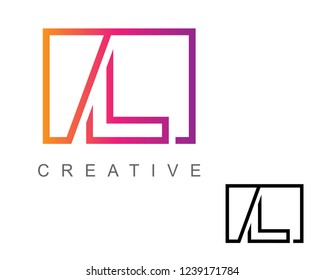 Letter L Logo Design With Box