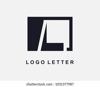 Letter L Logo Design With Square