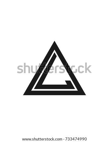 letter l logo design template