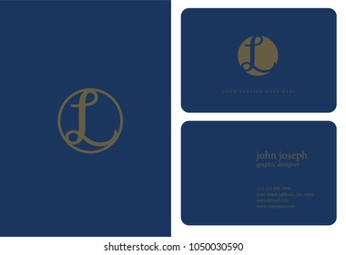 Letter L Logo icon with business card vector template.