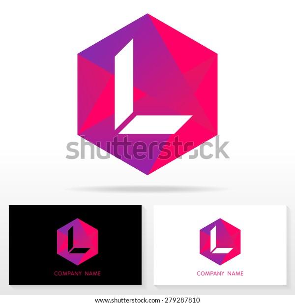 Letter L Logo Symbol Design Template Stock Vektorgrafik
