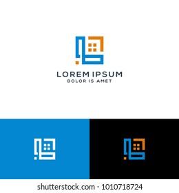 letter L logo, real estate logo template