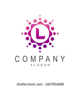 Letter L Logo, Logo Template For Company Name Initial