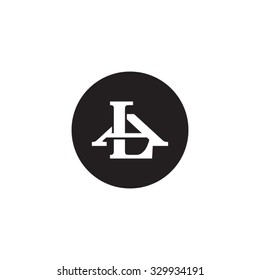 letter A and L monogram circle logo