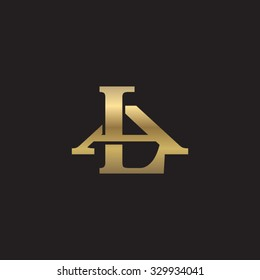 letter A and L monogram golden logo
