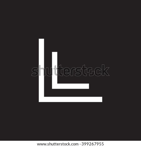 Letter L L Monogram Logo White Stock Vector Royalty Free 399267955