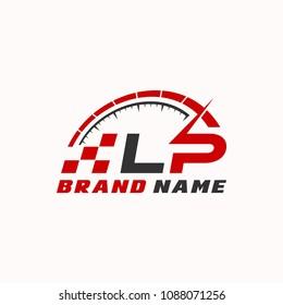 Letter L P logo icon design template elements