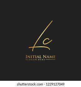 Letter Lc Logo. Initial Letter Design Vector Luxury Colors