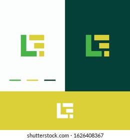 letter lf modern logo images, stock photo & vector