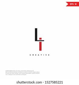 Letter LI, IL modern Logo icon monogram design. Vector graphic design template element.