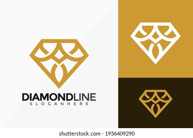 Letter A Line Art Diamond Logo Vector Design. Abstract emblem, designs concept, logos, logotype element for template.